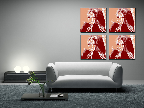 pop art auf acrylglas 100 x 100 cm die sch nsten bilder jetzt g nstig bestellen pers nliche. Black Bedroom Furniture Sets. Home Design Ideas